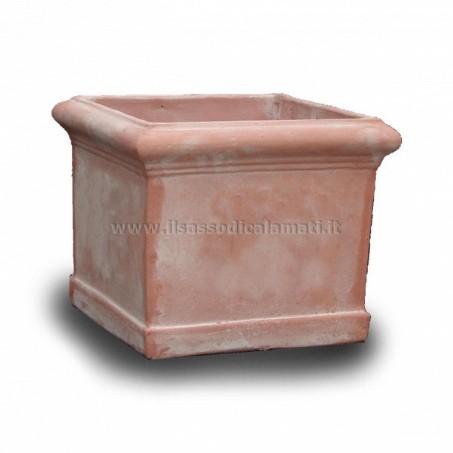 Vasi quadrati in terracotta vendita on line il sasso for Vasi in terracotta on line