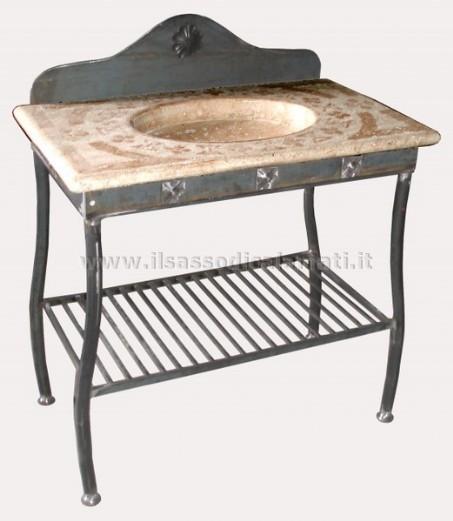 Miscelatori: Lavabo bagno ferro battuto