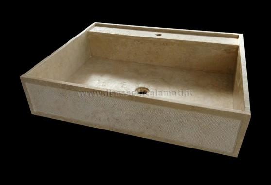 Lavelli da cucina in marmo e travertino. Misure personalizzabili ...