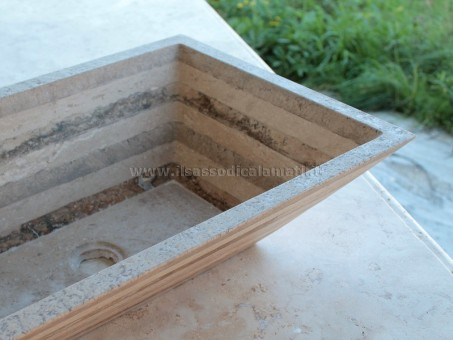 Lavabo Bagno In Pietra Prezzi.Lavello A Ciotola Rettangolare