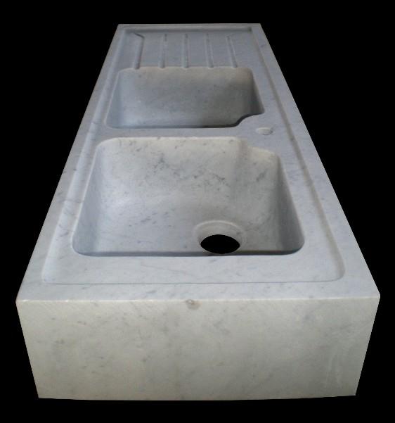 Lavabi da cucina in marmo bianco di carrara il sasso di for Lavello cucina bianco