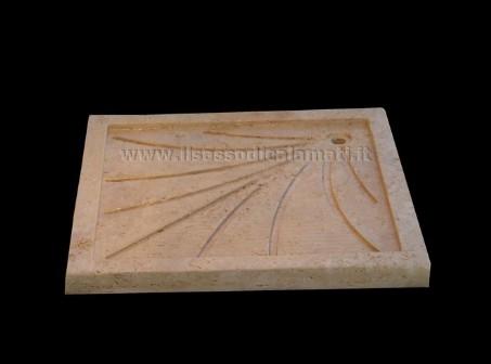 Piatti doccia e vasche in pietra il sasso di calamati for Piatto doccia antiscivolo