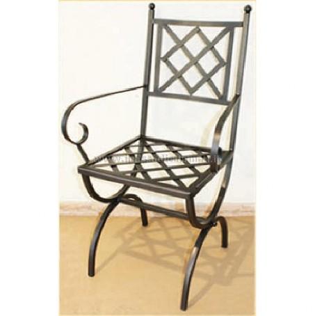 Sedie in ferro battuto il sasso di calamati for Sedie da esterno in ferro battuto