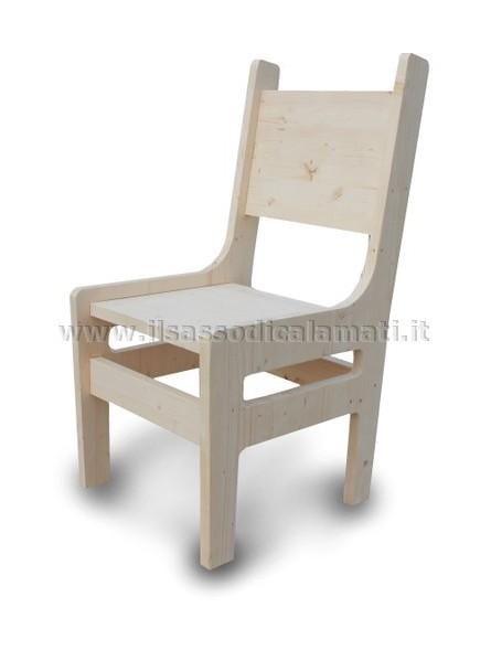 Sedie In Legno Da Colorare.Sedie E Poltroncine In Legno Prodotti Originali Il Sasso Di Calamati