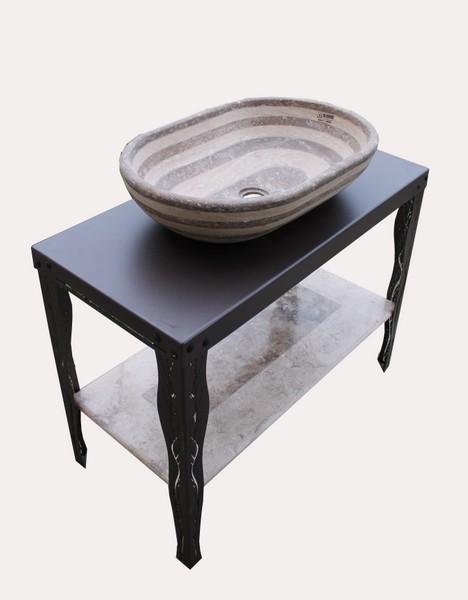 Basamenti in ferro battuto per lavabi il sasso di calamati - Lavelli bagno da appoggio ...