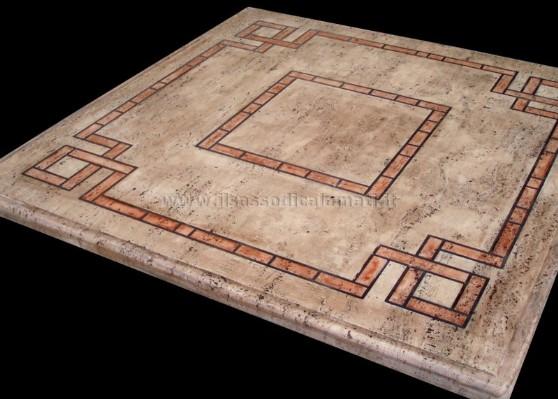 Tavoli da esterno in pietra il sasso di calamati - Mosaico per esterno ...