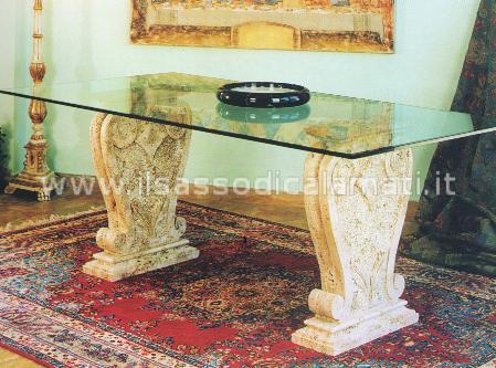 Tavoli in pietra e cristallo - Il Sasso di Calamati