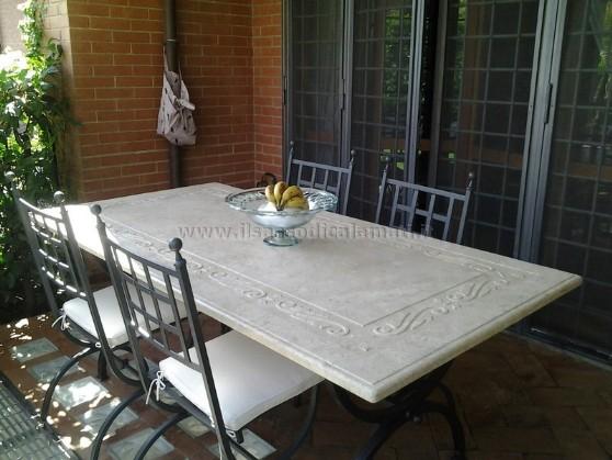 terrazza Vasi disegno : Tavoli da cucina marmo - Il Sasso di Calamati