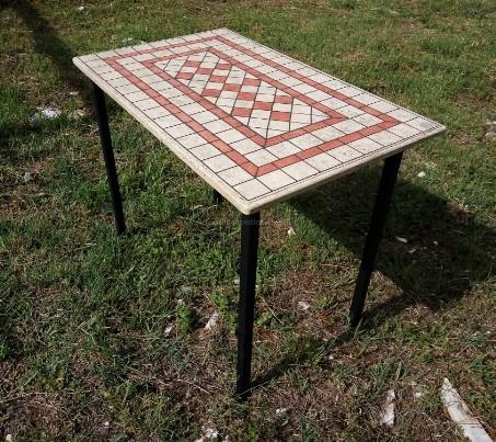 Tavoli da pranzo in travertino il sasso di calamati - Tavolo con base in pietra ...