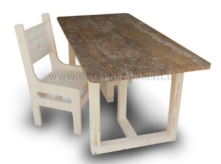 Tavoli In Pietra Per Interni.Basamento In Legno Mod Ideale Coppia