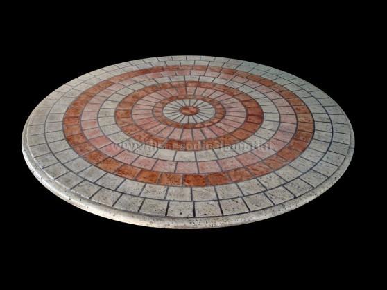 tavolini in pietra a mosaico il sasso di calamatiForTavolo Rotondo Mosaico